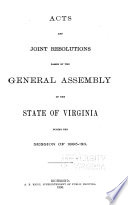 Acts and Joint Resolutions  Amending the Constitution  of the General Assembly of the State of Virginia Book PDF