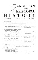 Anglican and Episcopal History