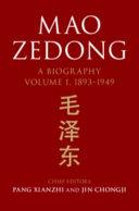 Pdf Mao Zedong: Volume 1, 1893-1949