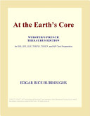 Pdf At the Earths Core (Webster's French Thesaurus Edition)