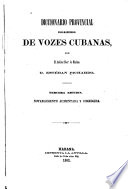 Diccionario provincial casi-razonado de vozes cubanas
