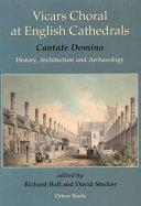 Vicars Choral at English Cathedrals Book