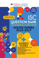 Oswaal ISC Question Bank Class 12 Business Studies Chapterwise & Topicwise (For March 2020 Exam)