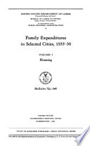 Family Expenditures in Selected Cities, 1935-36