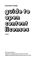 Guide to Open Content Licenses V1 2