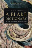 A Blake Dictionary