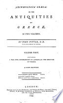 Archæologia græca: or The antiquities of Greece ... A new edition