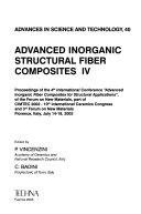 Advanced Inorganic Structural Fiber Composites Iv Book PDF