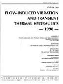 Flow Induced Vibration And Transient Thermal Hydraulics 1998 Book PDF