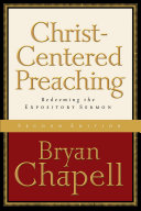 Christ Centered Preaching Book