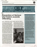 Prevention of Serious and Violent Juvenile Offending