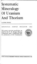 Systematic Mineralogy of Uranium and Thorium