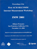 Proceedings of the First ACM SIGCOMM Internet Measurement Workshop Book