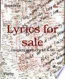 Lyrics for sale