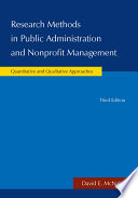 Research Methods in Public Administration and Nonprofit Management