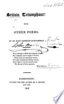 Britain Triumphant With Other Poems By An East Lothian Ploughman