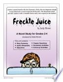FRECKLE JUICE NOVEL STUDY Gr  2 4 Book PDF
