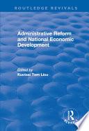 Administrative Reform And National Economic Development