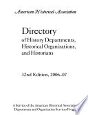Directory of History Departments, Historical Organizations, and Historians