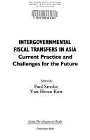Intergovernmental Fiscal Transfers in Asia