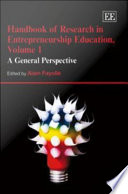 Handbook of Research in Entrepreneurship Education  A general perspective