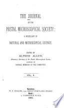 The Journal Of Microscopy And Natural Science The Journal Of The Postal Microscopical Society