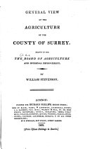 Agricultural Surveys  Surrey  1809