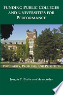 Funding Public Colleges And Universities For Performance