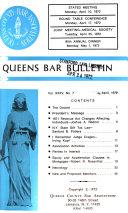 Queens Bar Bulletin