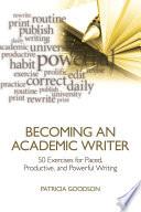 Becoming an Academic Writer Book