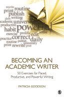 Becoming an Academic Writer