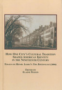 How One City s Cultural Tradition Shaped American Identity in the Nineteenth Century