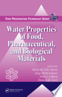 Water Properties of Food  Pharmaceutical  and Biological Materials