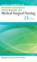 Clinical Handbook For Brunner Suddarth S Textbook Of Medical Surgical Nursing