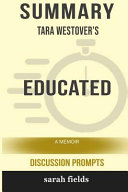 Summary  Tara Westover s Educated  A Memoir  Discussion Prompts
