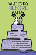 Pdf What to Do Before You Say I Do