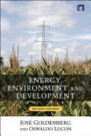 Energy, Environment and Development
