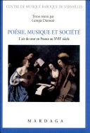 Poésie, musique et société