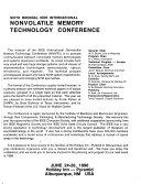 Sixth Biennial IEEE International Nonvolatile Memory Technology Conference