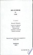 Area Handbook for Cuba Book