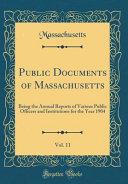 Public Documents Of Massachusetts Vol 11