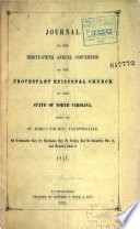 Journal Of The Proceedings Of The Annual Convention Of The Protestant Episcopal Church In The State Of North Carolina