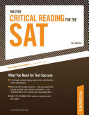 Peterson s Master Critical Reading for the SAT