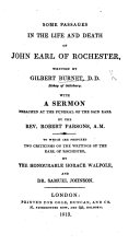 Pdf Some Passages of the Life and Death of the Right Honourable John Earl of Rochester ... The fifth edition. With the engraving of Rochester by R. White