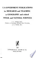 U.S. Government Publications for Research and Teaching in Geography, and Related Social and Natural Sciences
