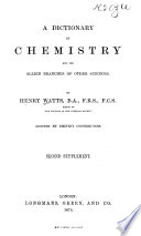 A Dictionary Of Chemistry And The Allied Branches Of Other Sciences Book PDF