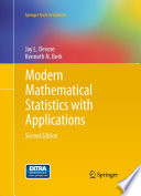 Modern Mathematical Statistics with Applications Book