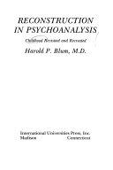 Reconstruction in Psychoanalysis