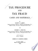 Tax procedure and tax fraud, cases and meterials