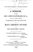 """Pdf Is the Church of England """"a Scriptural Church?"""" A speech by J. Hatchard ... compared with the writings of many eminent divines of the established Church"""